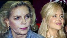 Nicole Kidman vs. Lauren Bacall redux. Legends age gracefully.