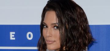 Ashley Graham in Naeem Khan & wet-look hair at the VMAs: tragic or cute?