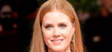 Amy Adams tried to do some Duggar-esque hairstyle in Venice, right?