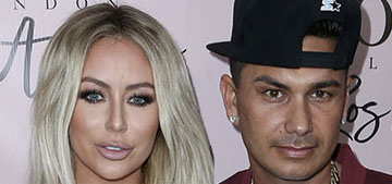 Aubrey O'Day shows off a big ring, is she engaged to Pauly D?