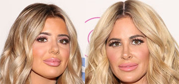 Kim Zolciak & daughter Brielle hit NY in leather outfits: tacky times two?