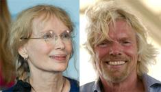 Mia Farrow too weak to finish hunger strike, Richard Branson steps up