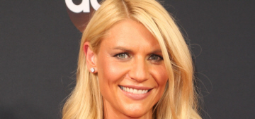 Claire Danes in Schiaparelli at the Emmys: aggressively bronzed or fine?