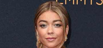 Sarah Hyland in Monique Lhuillier at the Emmys: bizarre or fashionable?
