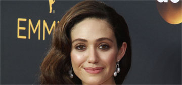 Emmy Rossum in white Wes Gordon at the Emmys: classic or boring?