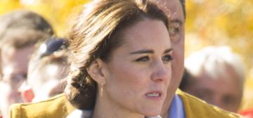 Duchess Kate in Sentaler & Carolina Herrera in Canada: cool coats or meh?