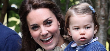 Princess Charlotte got to play with balloons & a dog named Moose in Canada