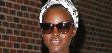 """""""Lupita Nyong'o wore a cute Monse dress & sunglasses at night"""" links"""