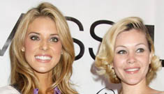 Miss California Carrie Prejean and Shanna Moakler kiss and make up