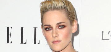 Kristen Stewart in Roberto Cavalli at the Elle WIH event: unflattering or cute?