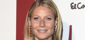 Gwyneth Paltrow in a velvet, lotus-flowered Gucci gown: lovely or tacky?