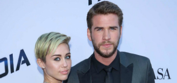 Miley Cyrus & Liam Hemsworth get brightly coupled-up at art opening