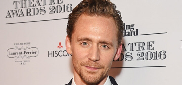 Tom Hiddleston came out of hiding to attend the ES Theatre Awards
