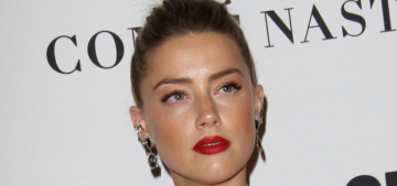 Amber Heard walked her first post-divorce carpet at the Glamour WOTY event