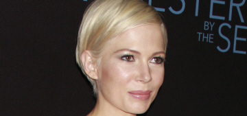 Michelle Williams in Vuitton at the 'Manchester' premiere: tedious or cute?