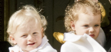 Prince Jacques & Princess Gabriella were so cute on Monaco's National Day