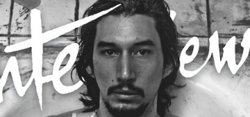 Adam Driver gets soaking wet in a bathtub for Interview Mag: hot or not?