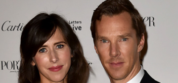 Benedict Cumberbatch & Sophie Hunter step out for a 'Letters Live' event