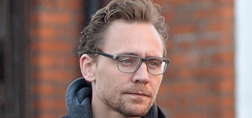 Tom Hiddleston stepped out in London for what looked like a MacBook ad