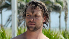 Shirtless Jesse Spencer on the beach (spoilers for last season of House)