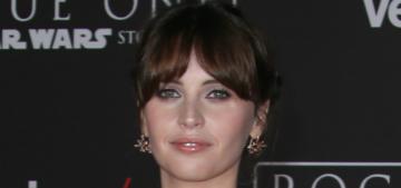 Felicity Jones in Dior at 'Rogue One' premiere: princess or rebel?