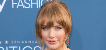 Bryce Dallas Howard in Topshop at Critics' Choice: cute or needs tailoring?