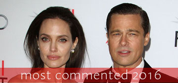 Celebitchy's most commented stories 2016: Brangelina split, Trump is President