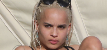 Zoe Kravitz spent the holiday in Miami, making out with her boyfriend