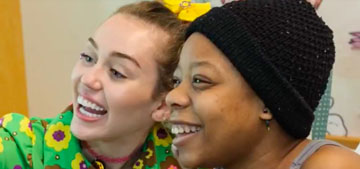 Miley Cyrus & Liam Hemsworth visit San Diego children's hospital together