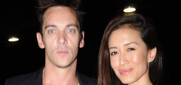 Jonathan Rhys Meyers & Mara Lane welcomed their first kid, a son named Wolf