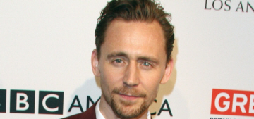 Tom Hiddleston & his goatee attended the pre-Globes BAFTA tea party