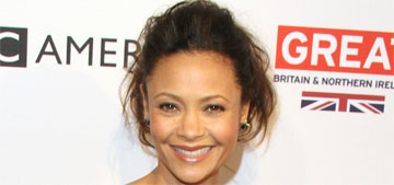 Thandie Newton in Monse at the BAFTA tea party: quirky cute or just weird?