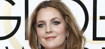 Drew Barrymore in Monique Lhullier at the Golden Globes: avian fab or fug?