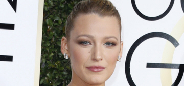 Blake Lively in velvet Versace at the Golden Globes: stunning or overkill?