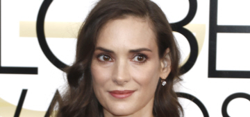 Winona Ryder in satin Viktor & Rolf at the Golden Globes: '90s fab or '90s fug?