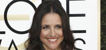 Julia Louis-Dreyfus in Georges Chakra at the Golden Globes: boring or spot on?