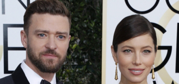 Justin Timberlake's wife wore Elie Saab to the Golden Globes: pretty or meh?