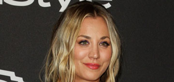 Kaley Cuoco in Tommy Hilfiger at the InStyle Globes party: lovely, predictable?
