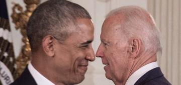 Pres. Obama surprised VP Joe Biden with the Presidential Medal of Freedom