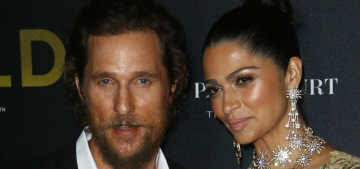 Camila Alves wore gold Marchesa to the 'Gold' premiere: a golden tragedy?
