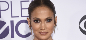 Jennifer Lopez in Reem Acra at the People's Choice Awards: matronly or hot?