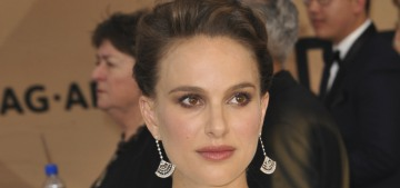 Natalie Portman in a tent-like Dior at the SAGs: retro fug disaster or fine?