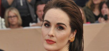 Michelle Dockery in striped Elie Saab: one of the best looks of the SAGs?