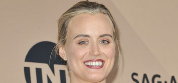 Taylor Schilling in Adeam at the SAGs: terrible but her speech was awesome