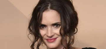 Winona Ryder in Ryan Roche at the SAGs: old-school or just boring?