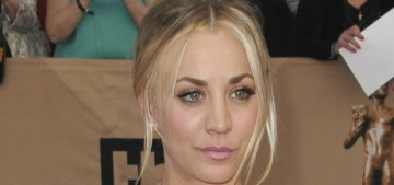 Kaley Cuoco in tulle Marchesa at the SAGs: twee, terrible & tragic?
