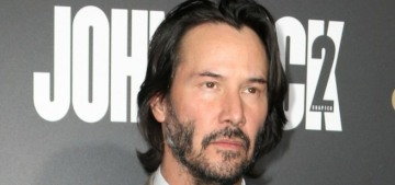 Keanu Reeves at the 'John Wick 2′ premiere: ageless or carefully worn?