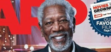 Morgan Freeman is 'holding out hope' that Baby Fists is a good president