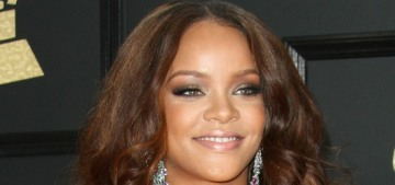 Rihanna in a two-piece Armani at the Grammys: stunning or strange?