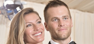 Gisele Bundchen & Tom Brady will co-chair this year's Met Gala, ugh
